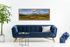 View of the Sca Fell Range over Eskdale from Birker Fell - Oak floater frame with acrylic glazing on Wall