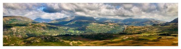 Sunlight on the Eskdale Fells - Lake District Print