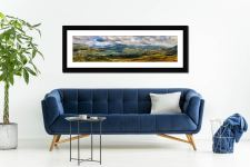 Sunlight on the Eskdale Fells - Framed Print with Mount on Wall