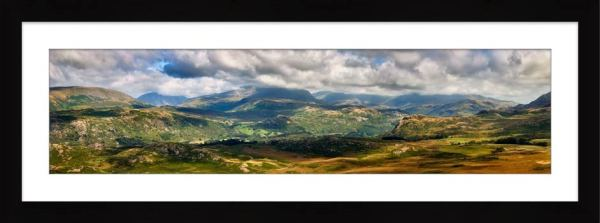 Sunlight on the Eskdale Fells - Framed Print with Mount