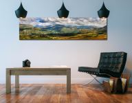 Sunlight on the Eskdale Fells - Print Aluminium Backing With Acrylic Glazing on Wall