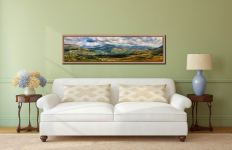 Sunlight on the Eskdale Fells - Oak floater frame with acrylic glazing on Wall
