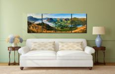 Low Fell Panorama - 3 Panel Wide Mid Canvas on Wall