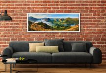 The morning mists receding back to Buttermere from the Loweswater Fells - White Maple floater frame with acrylic glazing on Wall
