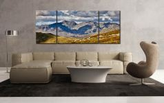 Scafell Pike from the Coniston Fells - 3 Panel Wide Mid Canvas on Wall