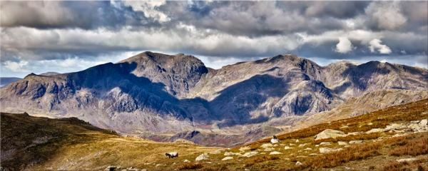 Scafell Pike from the Coniston Fells - Canvas Print
