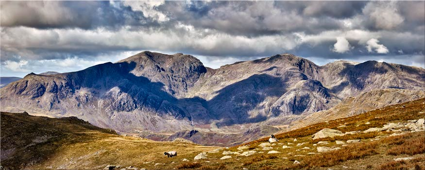 Scafell Pike from the Coniston Fells - Lake District Canvas