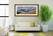 Scafell Pike from the Coniston Fells - Framed Print with Mount on Wall