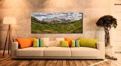 Langdale Pikes from Little Langdale - Canvas Print on Wall