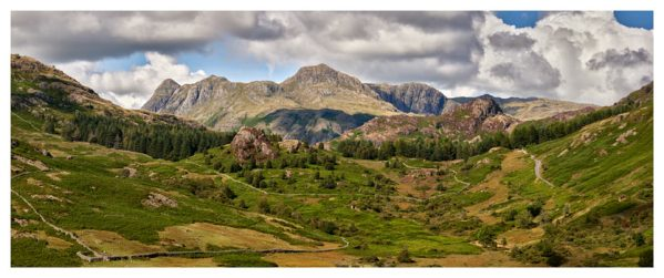 Langdale Pikes from Little Langdale - Lake District Print