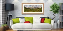 Langdale Pikes from Little Langdale - Framed Print with Mount on Wall