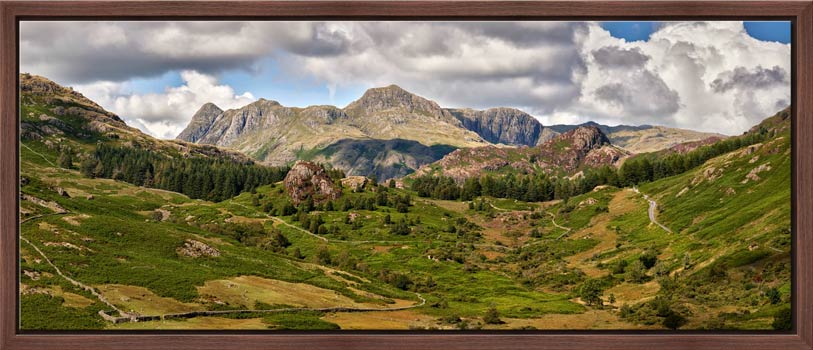 Langdale Pikes from Little Langdale - Modern Print