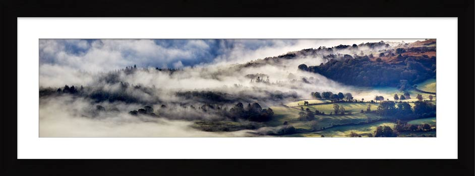 Coniston Moor in the Mist - Framed Print