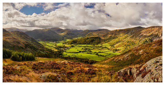 Borrowdale the Green Valley - Lake District Print
