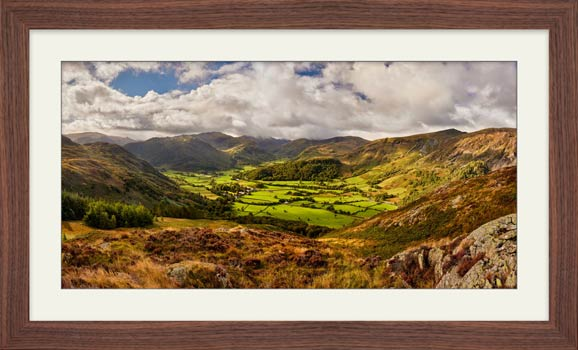Borrowdale the Green Valley - Framed Print