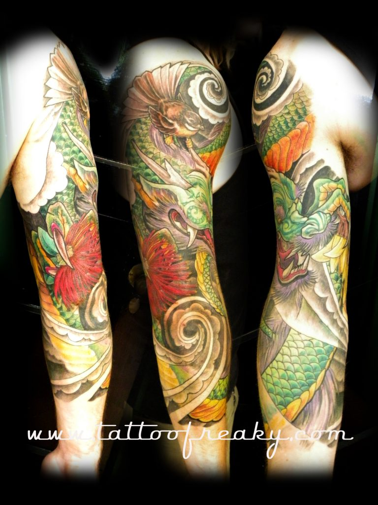 kiwiana japanese tattoo new zealand
