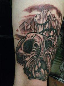 dessert skull tattoo nz