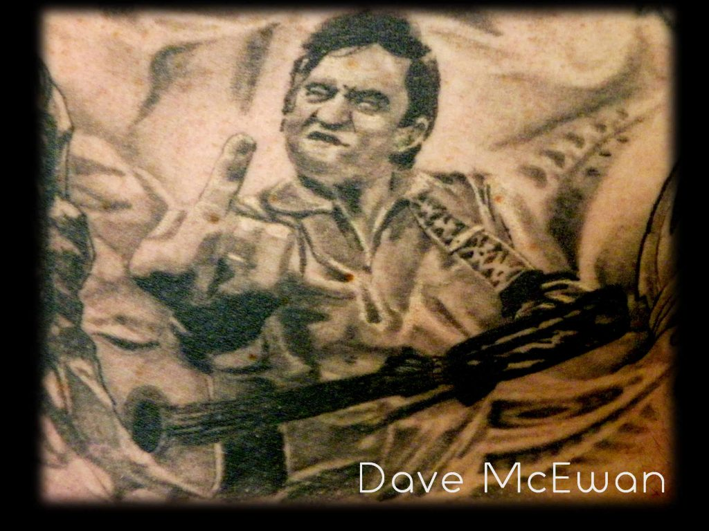 johnny cash portrait tattoo Tauranga New Zealand