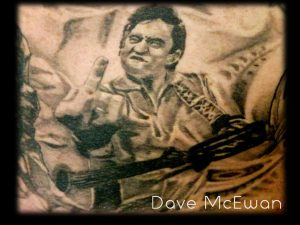 johnny cash portrait tattoo Tauranga New Zealand