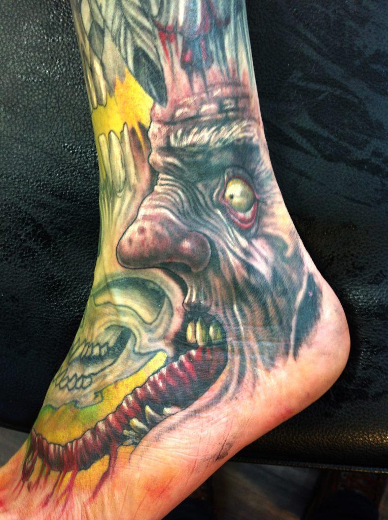 zombie tattoo Tauranga New Zealand