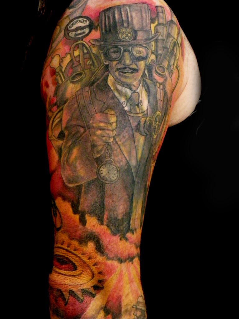 steampunk tattoo Tauranga New Zealand