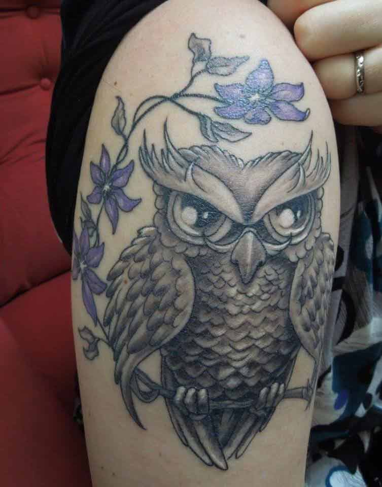 owl tattoo Tauranga New Zealand
