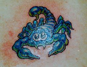 scorpion tattoo Tauranga New Zealand