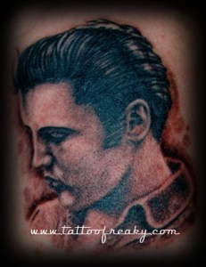 elvis portrait tattoo Tauranga New Zealand