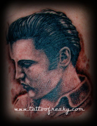 elvis portrait tattoo Tauranga New Zealand