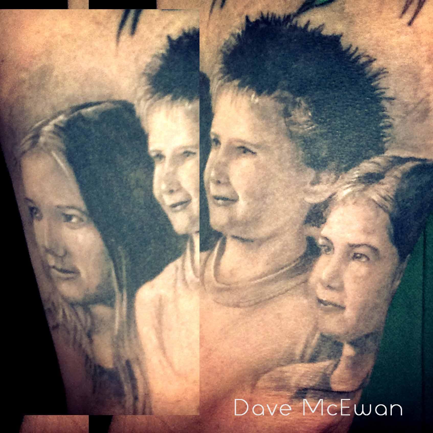 children kids portrait tattoo Tauranga New Zealand