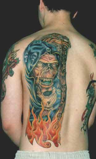 reaper tattoo Tauranga New Zealand
