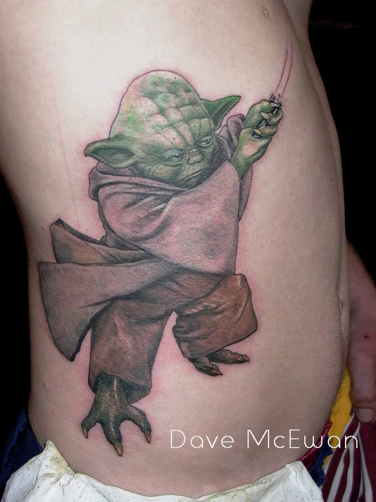yoda star wars tattoo Tauranga New Zealand