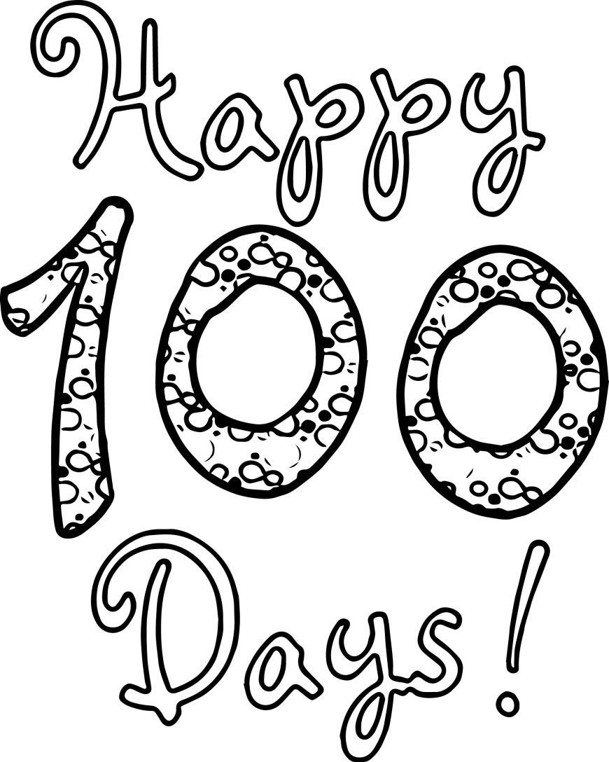 100th Day Of School Coloring Pages 100 Days Of School Coloring Sheets Day Pages New 100th