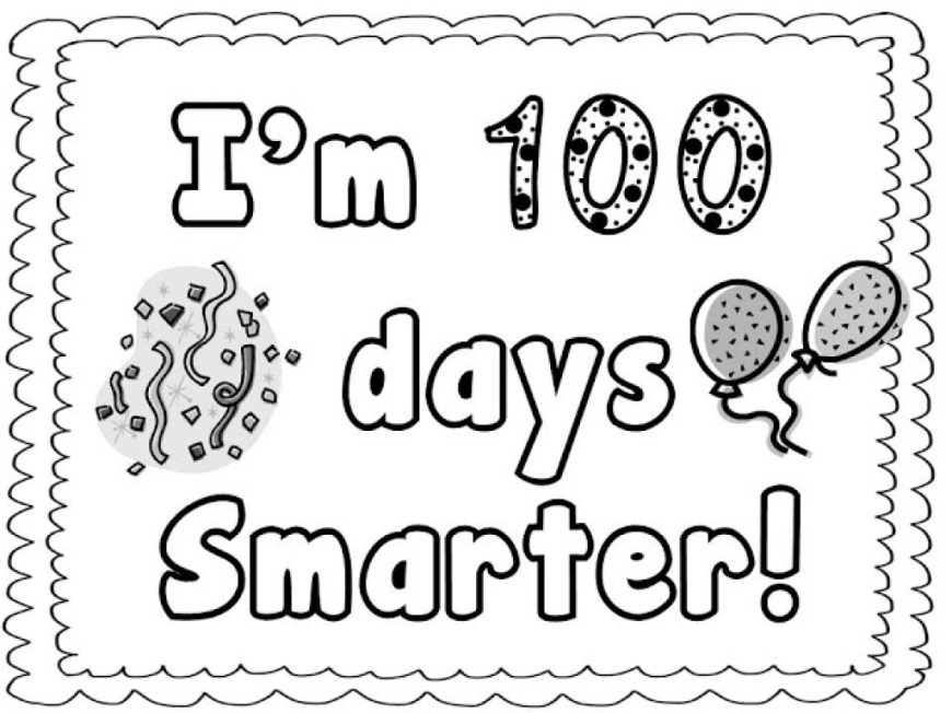 100th Day Of School Coloring Pages 100th Day Of School Coloring Pages 100th Day School Coloring Pages