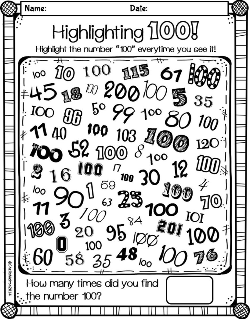 100th Day Of School Coloring Pages Coloring Pages Coloring Pages Days Ofl Printable Free Forl100 Page