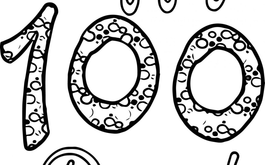100th Day Of School Coloring Pages Days Of School Coloring Pages Best 100th Day Colouring Printable