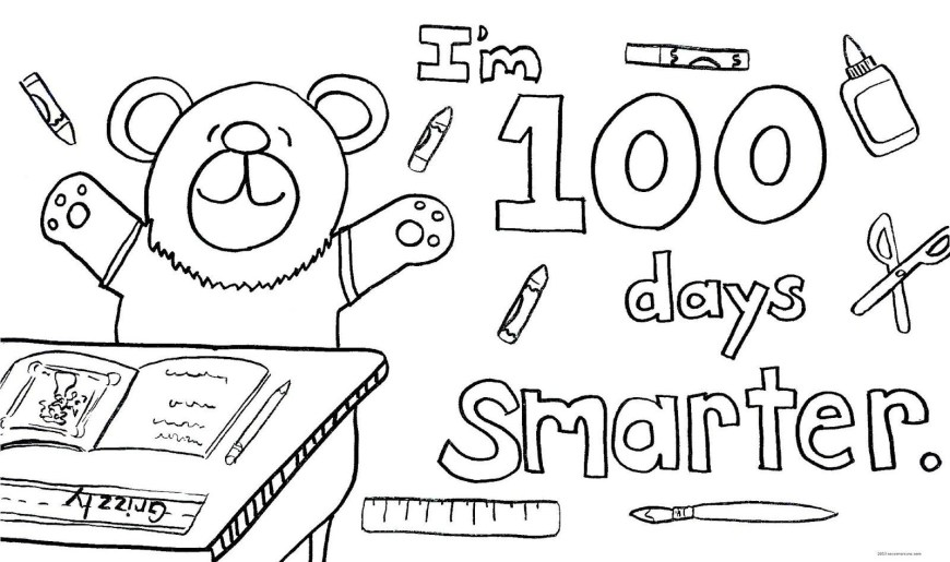100th Day Of School Coloring Pages Enjoy This Coloring Page To Use Celebrate 100 Days In School 7 100th
