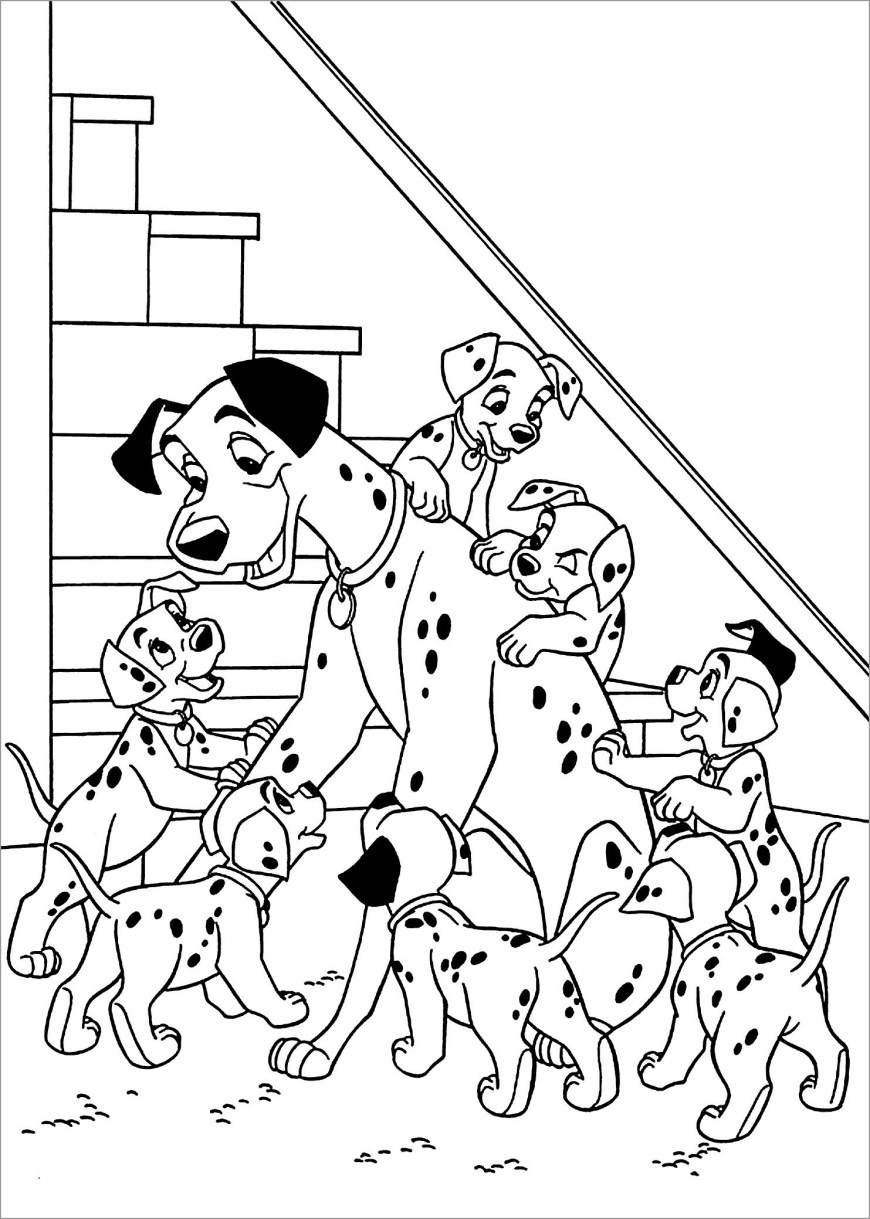 101 Dalmatians Coloring Pages 101 Dalmatians Coloring Pages Coloringbay