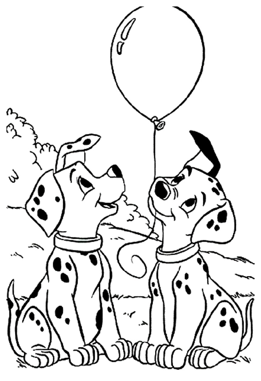 101 Dalmatians Coloring Pages 101 Dalmatians For Kids 101 Dalmatians Kids Coloring Pages