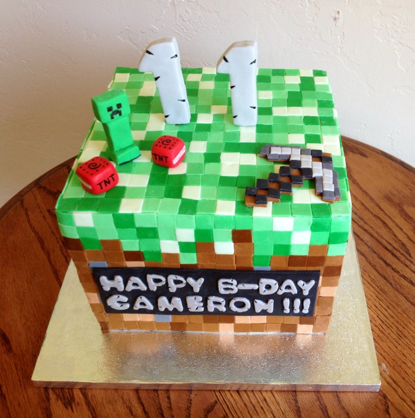 11 Year Old Birthday Cakes Minecraft Cake For An 11 Year Old Birthday Boy He Was So Excited