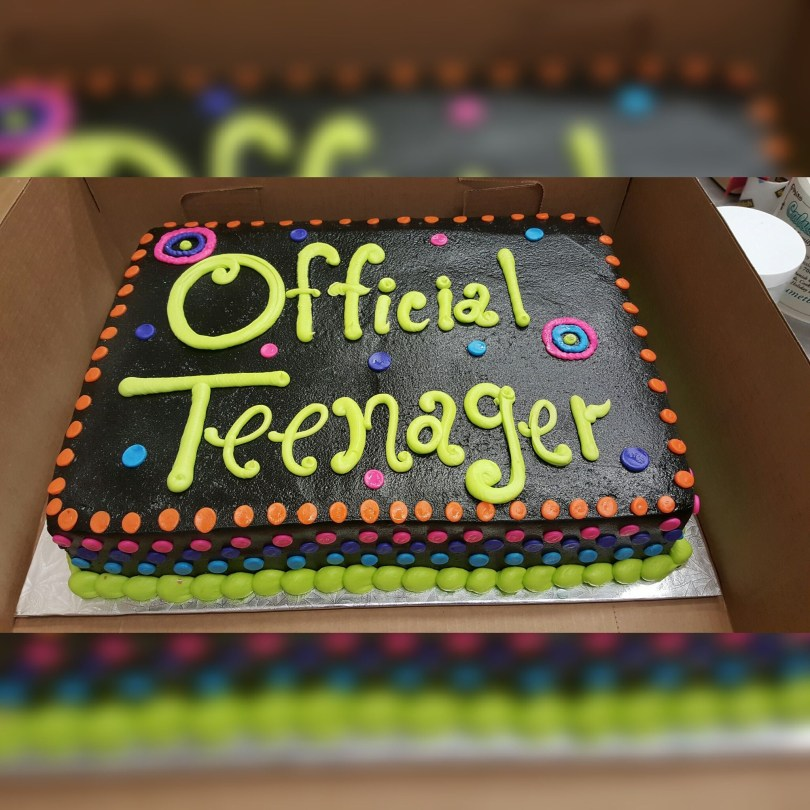 13Th Birthday Cake Calumet Bakery Official Teenager Cake Milestone Birthday Cakes