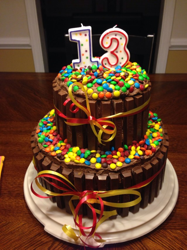 13Th Birthday Cake Decided To Try This For My Sons 13 Th Bday What Fun This Was To