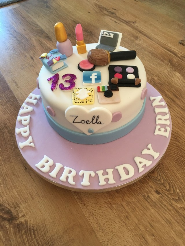 13Th Birthday Cake Zoella Theme Birthday Cake For 13 Year Old Bday Party Pinterest
