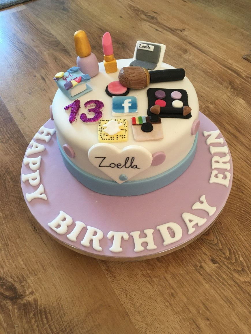 13Th Birthday Cake Zoella Theme Birthday Cake For 13 Year Old Bday Party Pinterest
