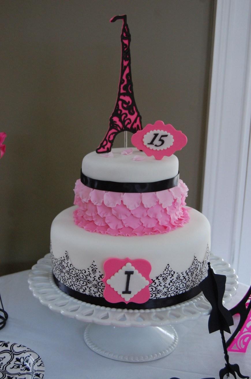 15Th Birthday Cakes Paris 15th Birthday Cake Decorated Cakes Pinterest Cake 15th