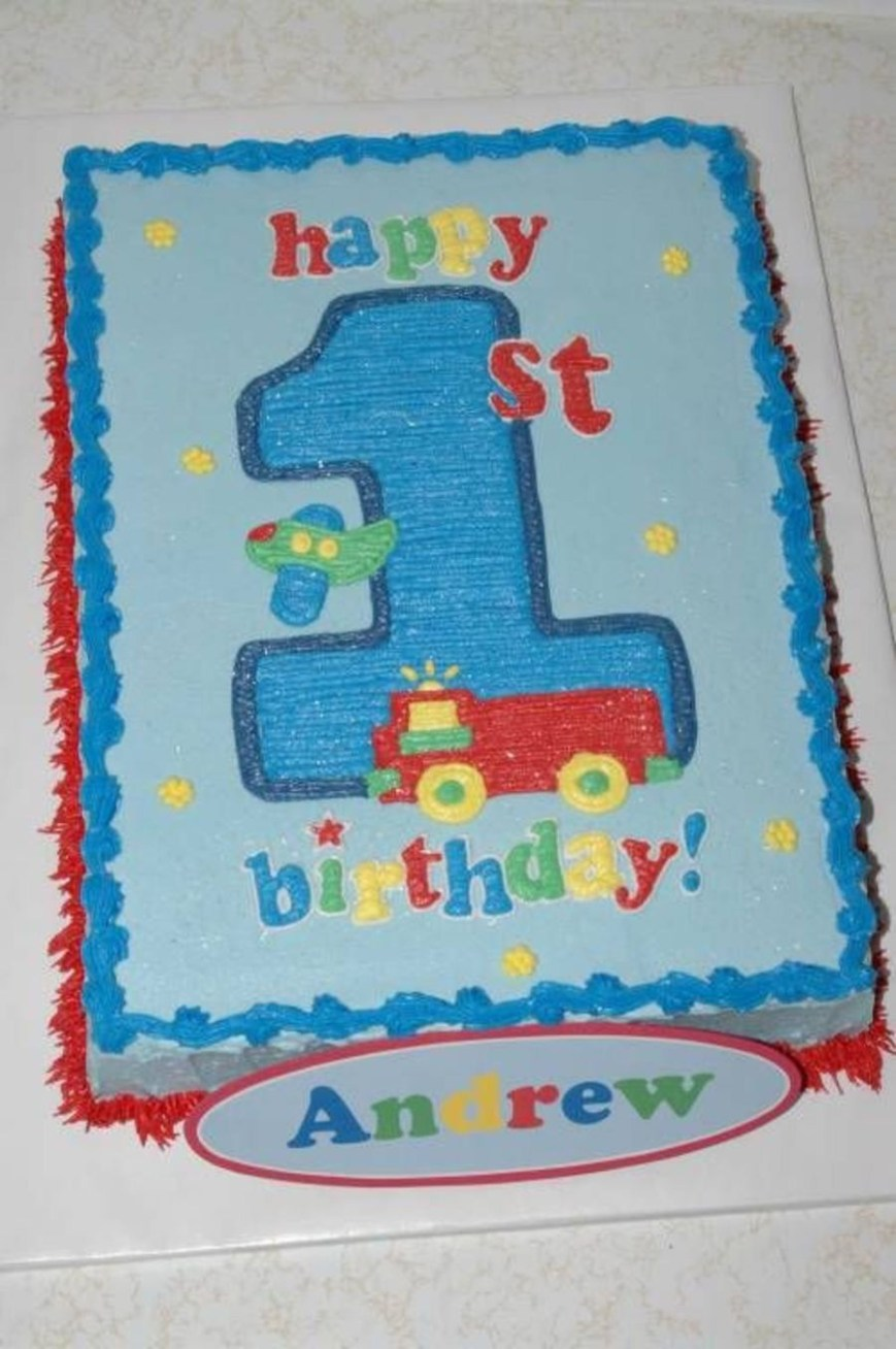 1St Birthday Cakes For Boys Boys First Birthday Cake Cakecentral