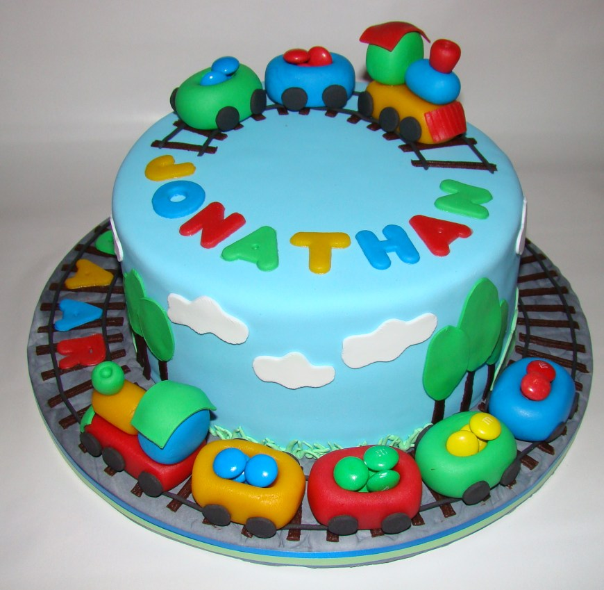 2 Year Old Birthday Cake Train Cakes For Boys Traincake A Two Years Boy