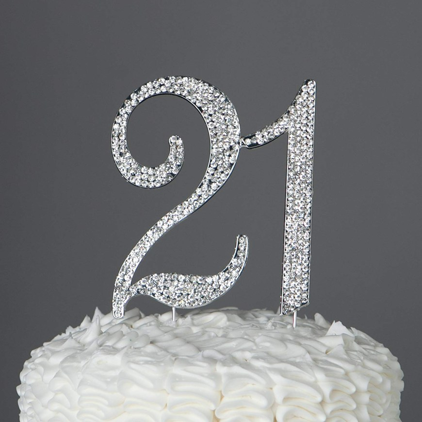 21St Birthday Cake Ideas 21st Birthday Cake Decorating Ideas Unique Amazon 21 Cake Topper For