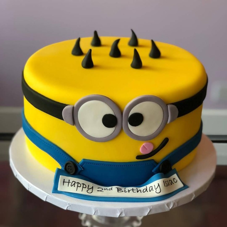2Nd Birthday Cake 2nd Birthday Cake Of Minions Hd Image The Ask Idea