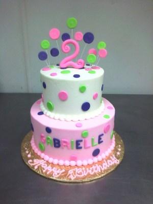2Nd Birthday Cake Pink Purple Green 2nd Birthday Cake Main Made Custom Cakes Cakepins
